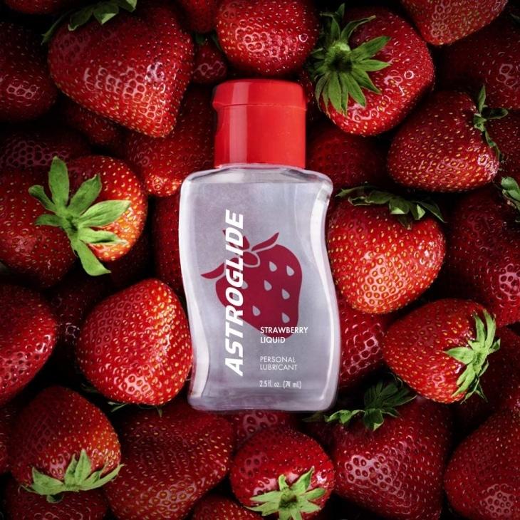 Astroglide strawberry flavored sex lube